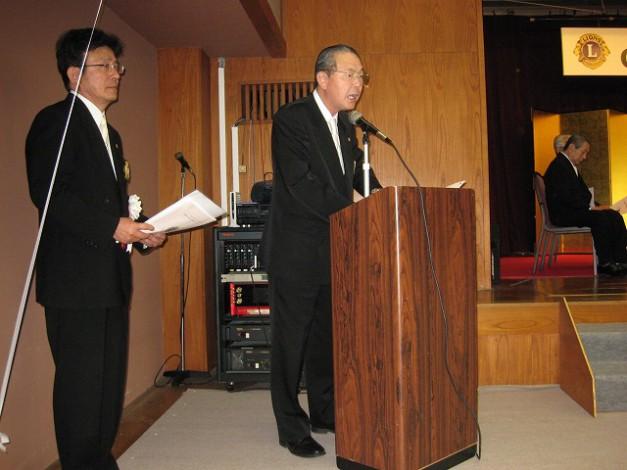 50周年記念式典 ④来賓・地区役員・ブラザークラブ紹介 第1副会長小島