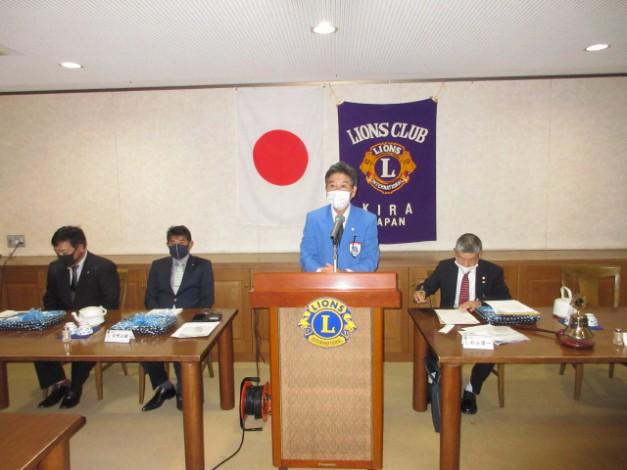 8RYCE・レオ委員L加藤孝明(一色LC)に現状報告をしてもらいました