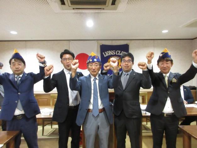 L山崎一郎による新入会員歓迎のロアー